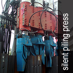 silent piling press